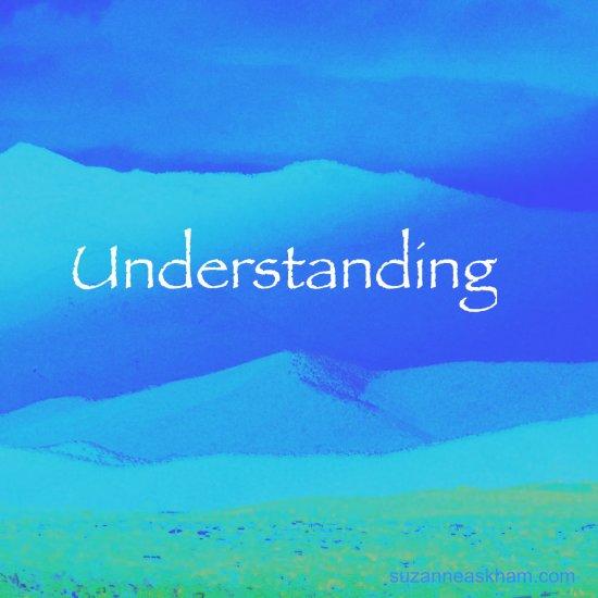 Blue mountainscape